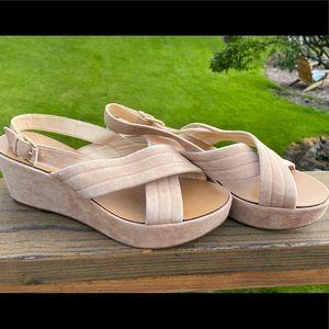 J.Crew suede heels size 10, worn twice.  EUC